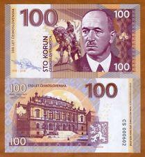 Czechoslovakia, 100 Korun, 2018, Private issue, Specimen, UNC > Edvard Beneš