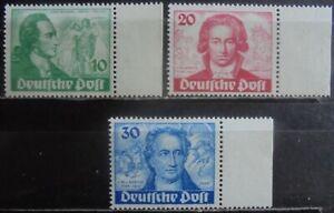 GERMANY (Berlin) 1949 Birth Bicentenary of Goethe, Complete Set of 3 MNG