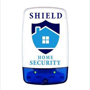 Dummy / Decoy Alarm Bell Box, Dual flashing LED's & printed security logo (S)