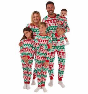 chrismas Pyjama Set Women's  Cotton Jersey Pyjamas Lounge Wear Red & Green