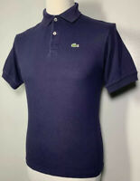 Mens Lacoste Navy Blue Polo Shirt Size XS Short Fit 100% Cotton *Devanlay* 9-633