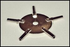 Pocket Watch Winding Key Steel Even Sizes Star Spider Bench 5 Prong 2 4 6 8 10