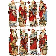 Stile Vintage muoiono tagli Babbo Natale 3 FOGLI 24 DIE Cuts Babbo Natale