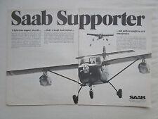 2/1975 PUB SAAB AEROSPACE SAFARI ETHIOPIA AIRLIFT OPERATION SAAB SUPPORTER AD