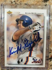 Autographed Kevin McReynolds baseball card - New York Mets 1992 Upper Deck #362