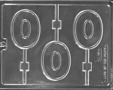 NUMBER 0 ZERO CHOCOLATE LOLLIPOP LOLLY MOULD MOLD  3 ON 1