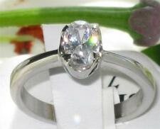 Cubic Zirconia Oval Solitaire Costume Rings