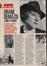 Coupure de presse Clipping 1992 Orane Demazis  (1 page)