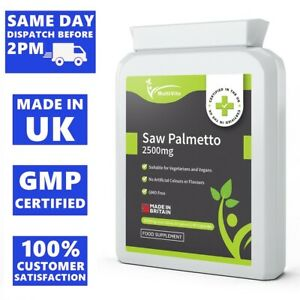 SAW PALMETTO 2500mg 90 Capsules Support Urinary Tract - Sexual & Prostate Health