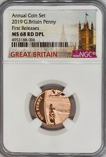 More details for 2019 1p one pence ngc ms68 rd dpl great britain coin uk penny