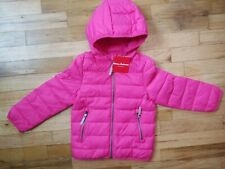NWT HANNA ANDERSSON SuperLight Packable Down Jacket PINK FLOWER 100 4 NEW!