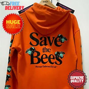 GOLF WANG ORANGE HOODIE SAVE THE BEES