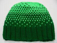 Vert - fait à la main - Acrylique - Taille Unique BAS casquette bonnet