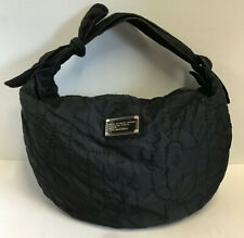 "MARC BY MARC JACOBS ""PRETTY CORE"" QUILTED BLACK NYLON HOBO SHOULDER HANDBAG"