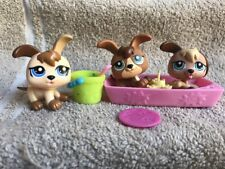 LITTLEST PET SHOP LOT BABY PUPPY HOUSE PETRIPLETS TRIPLETS DOG 1338 1339 1340
