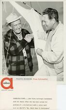 RED FOLEY DEL MOORE SMILE SAILBOAT MR SMITH GOES TO WASHINGTON 1962 ABC TV PHOTO