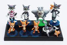 "Tom & Jerry CAKE TOPPER 9pc Set 1""- 3"" Birthday Cake Topper Figurines Set"