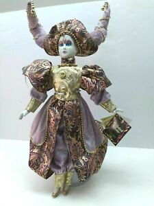 """Deluxe Jester ~ Harlequin with Tags 17"""" Porcelain Doll"""