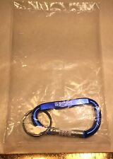 MERRILL LYNCH BLUE KEY RING KEYCHAIN CARABINER WITH BULL LOGO (NOT FOR CLIMBING)