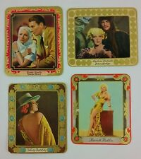 Garbaty Cigarette Cards Garbo Dietrich Boothby Haddon Embossed Bright 1934
