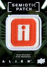 Alien Movie Semiotic Standards Patch Card SP15 Area Shielded From Radiation