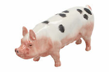 An Acorn Pottery pig White & black spots English