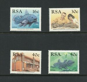 B975  South Africa  1989  fish marine Coelacanth   4v.    MNH