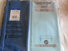 """PLASTIC TABLECOVER*54"""" X 96""""TRUE BLUE & ONE LIGHT BLUE 54""""X108""""*SEALED*NEW"""