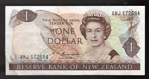 1981 New Zealand $1 DOLLAR Pic# 169a