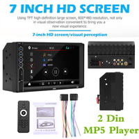 "7"" 2 Din Car Bluetooth Radio FM Stereo MP5 Player Mirror Link USB Aux Input TF"
