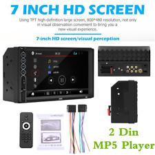 "7"" 2 Din Car Bluetooth Radio FM Stereo MP5 Player Mirror Link USB Aux Input TF"
