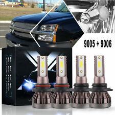 Combo Led Headlight Bulbs Kit 6000K for Chevy Silverado 1500 2003-06 Hi/Low Beam