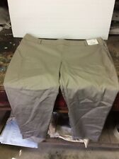 Women's New York & Company Summer Stretch 7th Ave Khaki Ankle Pants Size 16 NWT