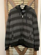 Oneil Mens Black Sherpa Warm Sweater Zip Up Jacket Hoodie Size M
