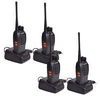 4 Pack Baofeng BF-888S Ham Two-way Ham Radio Handheld Walkie Talkie + Earphones