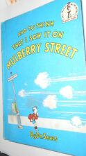 AND TO THINK THAT I SAW IT ON MULBERRY STREET BY DR. SEUSS 1964 HC 1ST PRINTING