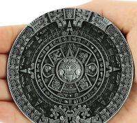 Aztec Maya Mayan Solar Calendar Vintage Mens  Belt Buckle Punk Belt Accessories