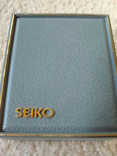 NIB GOLD PLATED GENUINE SEIKO WATCH W/MOTHER OF PEARL DIAL-FREE S&H W/BIN