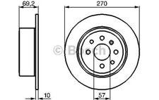 BOSCH Juego de 2 discos freno Trasero 270mm OPEL VECTRA VAUXHALL 0 986 478 420