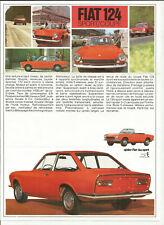 FIAT 124 SPORT COUPE - TYPE AC - 1967 / catalogue brochure prospekt