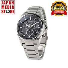 Citizen ATTESA AT3050-51E Eco-Drive Chronograph Titanium 100% Genuine JAPAN