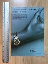 Omega Seamaster Titane 1984 Advertisement Pub Ad Werbung
