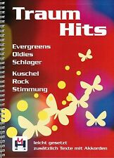 Keyboard Noten / Liederbuch (Gesang) Gitarre : TRAUMHITS - leichte Mittelstufe