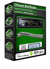 CITROEN Berlingo reproductor de CD, unidad principal Pioneer Con Ipod Iphone Android Usb Aux
