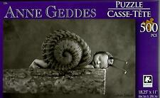 """2015 Anne Geddes Puzzle Snail Baby 500 Pieces 18.25"""" X 11"""" NEW #TY08"""
