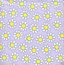 Lazy Daisy Purple FLANNEL Quilt Fabric - 3/4 Yard Piece