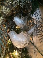 Old World Christmas Two Birds Bird Ornament Glass Country Primitive Hand Blown