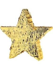 Golden Star Bash Pinata Celebration Party Games Birthday Boys Girls Kids Xmas