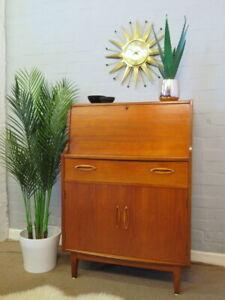 Mid Century Vintage Retro 60s 70s Teak JENTIQUE Bureau Cabinet Desk Unit Danish