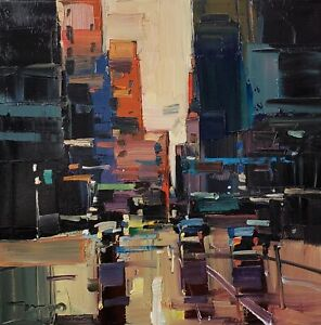 JOSE TRUJILLO Oil Painting IMPRESSIONISM CITY CONTEMPORARY ORIGINAL MODERN ART